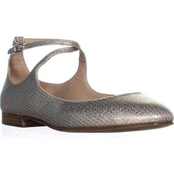 a8ce7096fc340 Shop Via Spiga Yovela Ballet Flats, Platinum - On Sale - Free ...