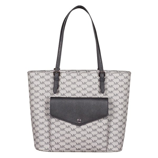 b20be85ae Shop Michael Kors Large Jet Set Multifunction Pocket Tote Handbag in Black  - Free Shipping Today - Overstock.com - 26030105