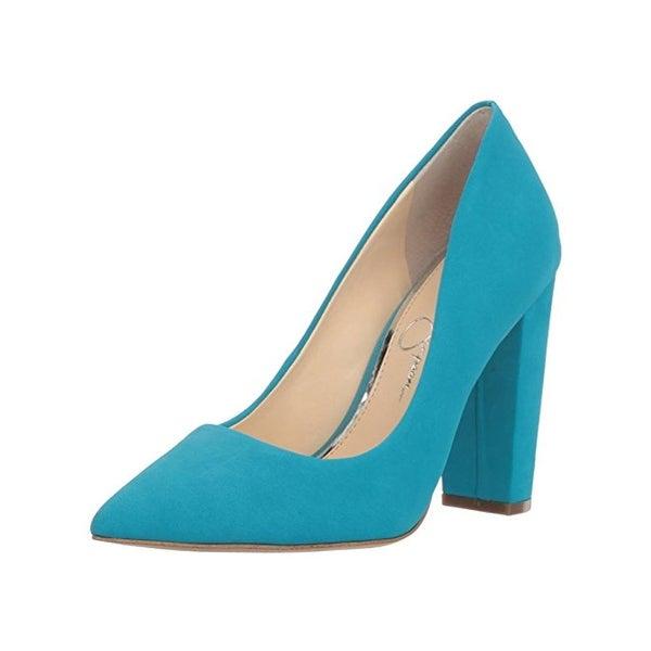 c0fd34219fe Shop Jessica Simpson Womens Tanysha Block Heels Pointed Toe Pumps ...