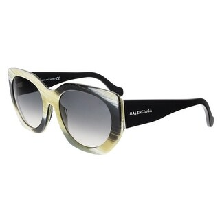 Balenciaga BA0017 64B Olive Horn Square Sunglasses - 57-20-140