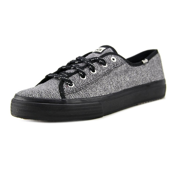 Keds Double Up Women Round Toe Canvas Black Sneakers