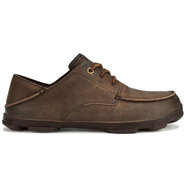 OluKai Mens hamakua poko Leather Closed Toe Moccasins - 11
