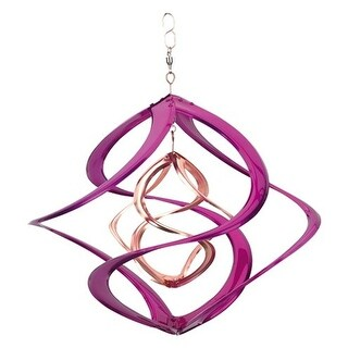"""Colored 14"""" Double Wind Spinner Purple"""