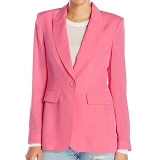 Rachel Zoe NEW Pink Women's Size 10 Aero One Button Silk Blazer