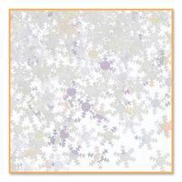 Pack of 6 Metallic Iridescent Snowflake Christmas Celebration Confetti Bags 0.5 oz.