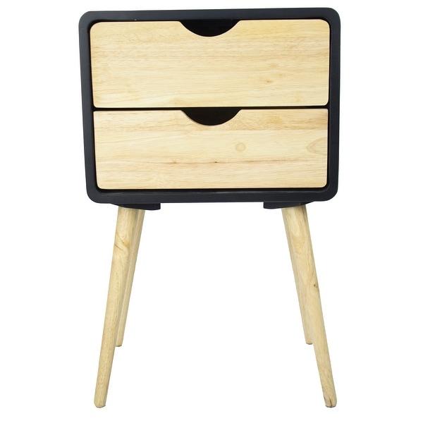 2-Drawer End Table - Mdf, Wood In Black