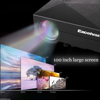 1080P Multimedia Home Cinema Theater LED LCD Projector HD PC AV TV VGA USB HDMI