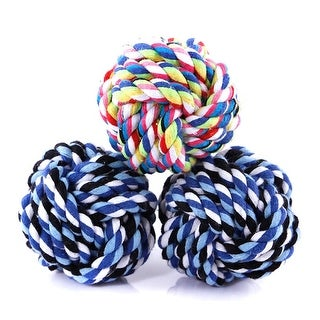 Colorful Ball Bone Knot Dog Ball for Aggressive Chewers