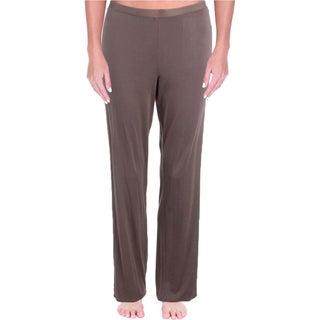 Calvin Klein Womens Pajama Bottoms Picot Trim Long - M