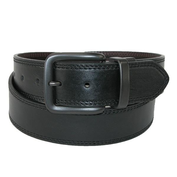 Levis Men's Leather Gunmetal Buckle 1 1/2 Inch Reversible Belt