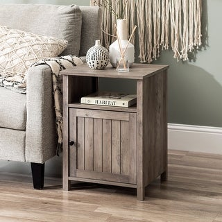 Link to The Gray Barn 18-inch Grooved Door Side Table Similar Items in Living Room Furniture