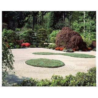 """Trees and plants in a garden, Japanese Garden, Washington Park, Portland, Oregon"" Poster Print"