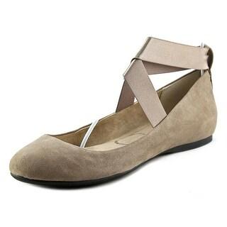 Jessica Simpson Mandayss Round Toe Suede Flats