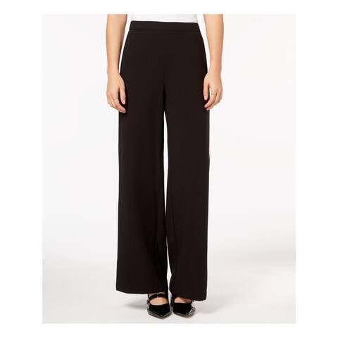 KENSIE Womens Black Striped Wide Leg Pants Size M
