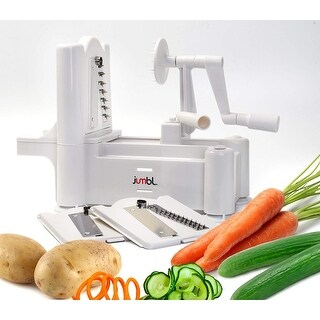 Jumbl Vegetable & Fruit Spiral Slicer Tri-Blade w/Three Stainless Steel Blades