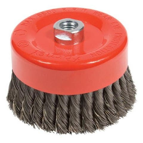 """Forney Industries 72756 Knotted Wire Cup Brush, 6"""""""