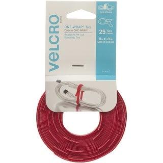 "Velcro(R) Brand One-Wrap(R) .25""X8"" 25/Pkg-Red"