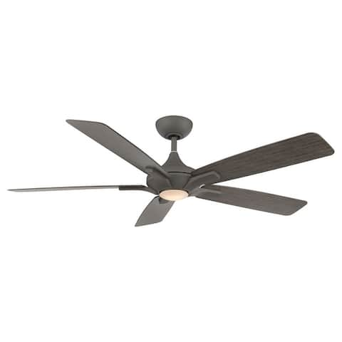 Mykonos Indoor and Outdoor 5-Blade Smart Ceiling Fan 60in with 3000K LED Light Kit and Remote Control