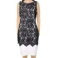 Lauren by Ralph Lauren White Womens Lace Sheath Dress