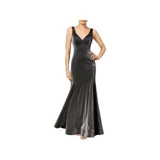 Xscape Womens Evening Dress Metallic Trumpet