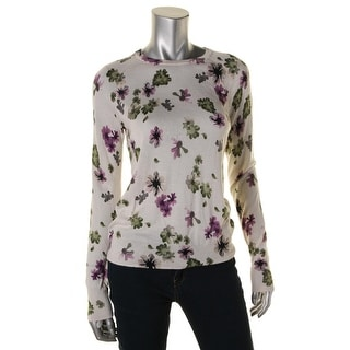 Equipment Womens Silk Blend Floral Print Pullover Top - S