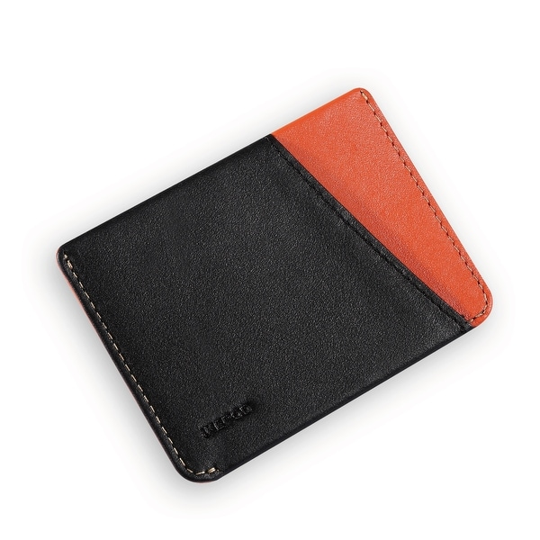 Ikepod Micro Slim Card Wallet (Black of 4 Color) [Italy Made//Top Leather] - Black