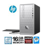 HP Pavilion 590 Intel Core i7-8700 6-Core 16GB 2TB HDD AMD Radeon 2GB Win 10 PC (Certified Refurbished)