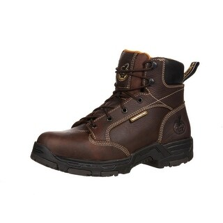 "Georgia Boot Work Mens 6"" Diamond Trax Waterproof ST Brown GBOT061"