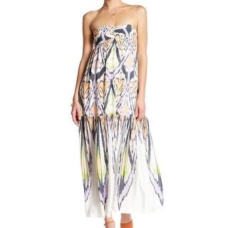 Free People Womens Ikat-Print Cutout Maxi Dress