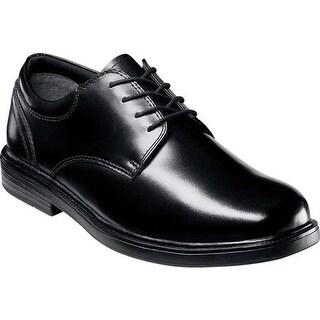 Nunn Bush Men's Eddy 84153 Plain Toe Lace Up Black Smooth Leather