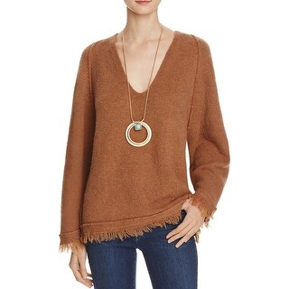 Free People Womens Irresistible Pullover Sweater Wool Blend Fringe