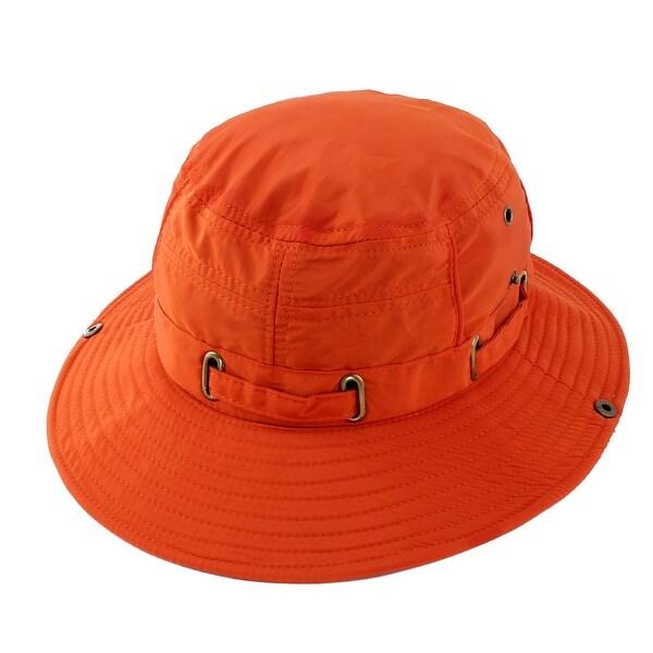 75230621b48 Fisherman Cotton Blends Hunting Wide Brim Bucket Summer Cap Fishing Hat  Orange