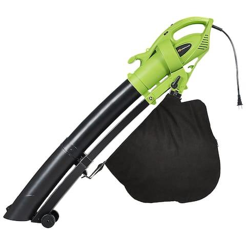 Costway 7.5 Amp 3-in-1 Electric Leaf Blower Leaf Vacuum Mulcher