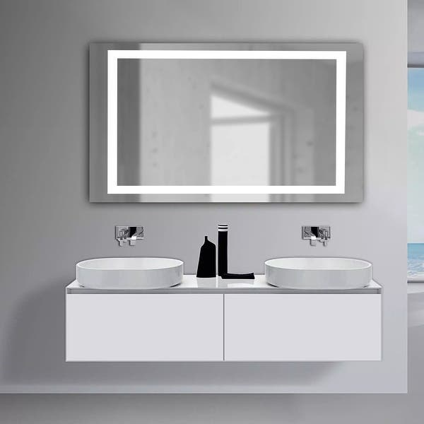 Saint Birch Elvis Frameless Led Lighted Bathroom Vanity Mirror 30 Inches X 20 Inches Overstock 32124003