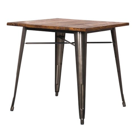 Metropolis Metal Dining Table - Gunmetal Grey