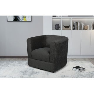 Link to Nova Upholstered Swivel Armchair, Light Gray Similar Items in Accent Chairs