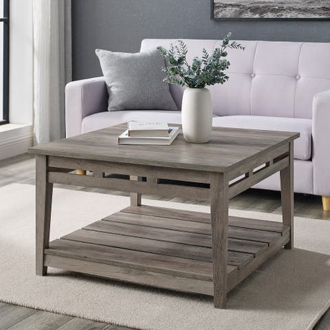 The Gray Barn 30-Inch Square Coffee Table