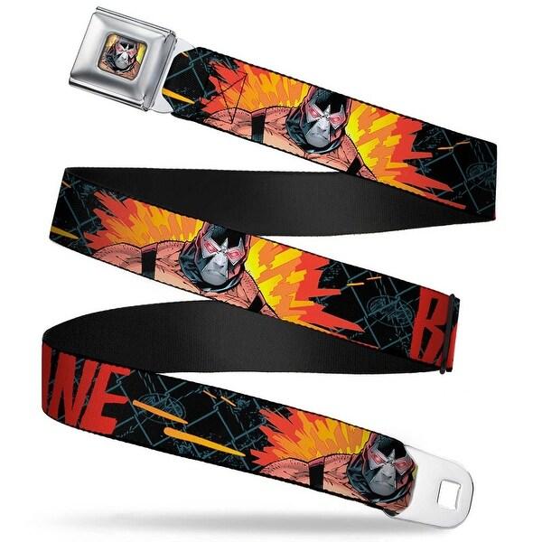 Bane Face Explosion Full Color Bane Pose Explosion Bat Signal Chain-link Seatbelt Belt