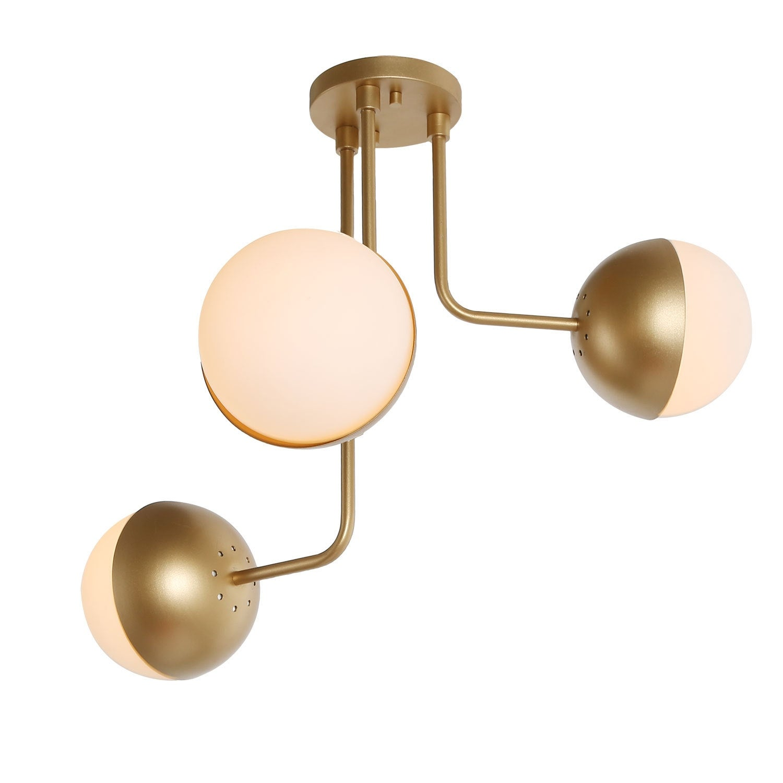 Modern Sputnik 3 Light Semi Flush Mount Ceiling Lighting For Kitchen Island W23 6 Xh22 8 Overstock 30668047