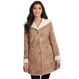 Cripple Creek Western Jacket Womens Faux Shearling Hooded CR15741