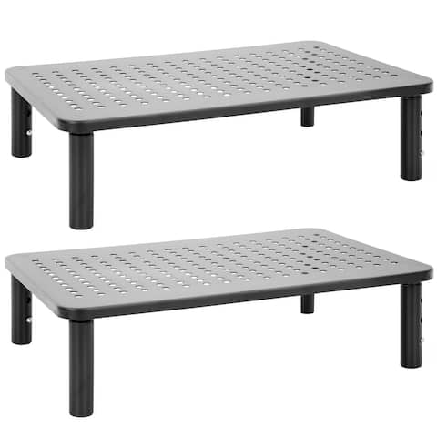 Mount-It! Metal Monitor Riser 2-Pack Fits 13-32 Inch Screens