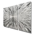 Statements2000 Silver 3 Panel Modern Metal Wall Art Sculpture by Jon Allen - Vortex 3P - Thumbnail 6