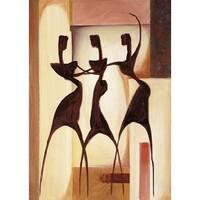 ''Island Ladies I'' by Alfred Gockel African American Art Print (27.5 x 19.75 in.)