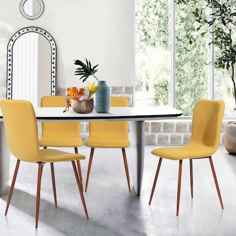 Carson Carrington Mid-Century Modern Fabric Dining Chairs (Set of 4)