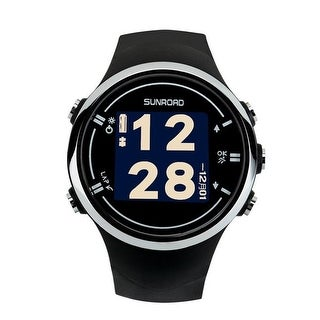 Sunroad FR930 Stainess steel GPS Watch, Black