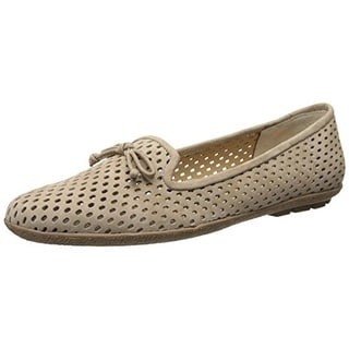 VANELi Womens Casey Nubuck Slip On Smoking Loafers