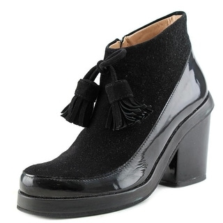 Apologie Lana   Round Toe Patent Leather  Ankle Boot