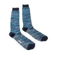 Missoni GM00CMU5245 0003 Turquoise/Navy Knee Length Socks - L