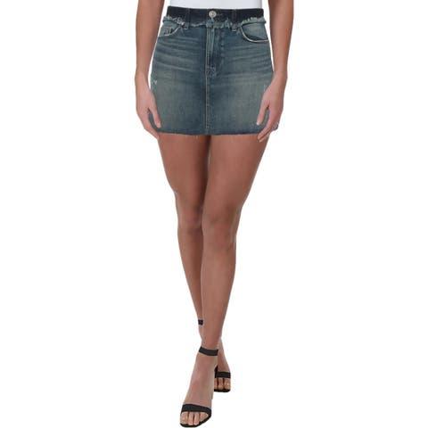 Hudson Womens Vivid Denim Skirt Distressed Mini - 25