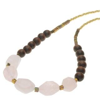Boho Gemstone Necklace - Rose Quartz - Exclusive Beadaholique Jewelry Kit